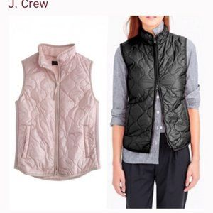 J CREW pale pink quilted vest jacket outerwear XL